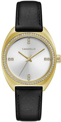 Bulova Caravelle By Caravelle by Women's Crystal Leather Watch - 44L250