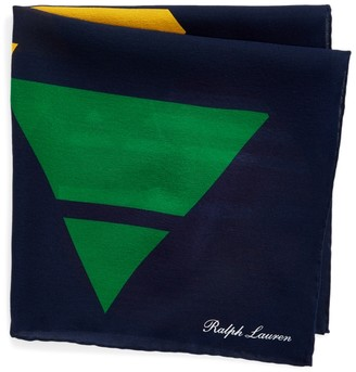 Ralph Lauren Geometric Silk Pocket Square