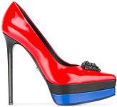 Versace patent Medusa toe pumps - women - Leather - 38