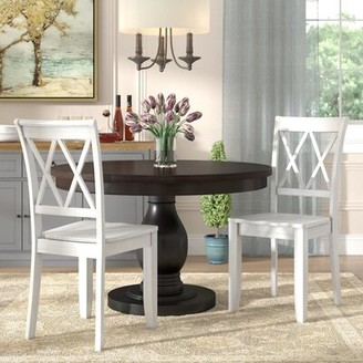 Darby Home Co Dauberville Solid Wood Dining Chair Side Chair Finish: Vanilla