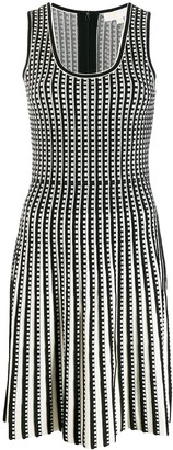 MICHAEL Michael Kors Checked Knitted Dress