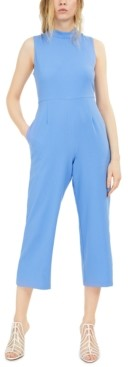 INC International Concepts Inc Mock Neck Wide-Leg Jumpsuit, Created for Macy's