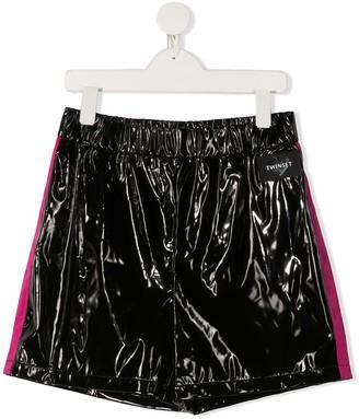 Twin-Set Side Stripe Shorts