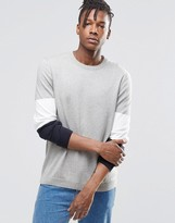 Asos Sweater with Color Block Arm