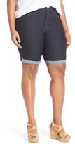NYDJ Plus Size Women's 'Briella' Stretch Roll Cuff Denim Shorts
