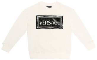 Versace Kids Printed cotton sweater