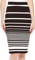 Liz Claiborne Textured Striped Midi Pencil Skirt - Tall