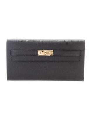 Hermes 2020 Epsom Kelly To Go Wallet w/ Tags Noir