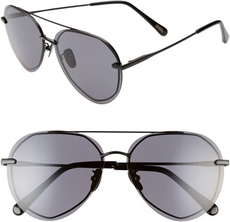 Lenox DIFF 61mm Round Flat Front Aviator Sunglasses