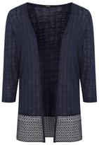 George Crochet Hem Cardigan