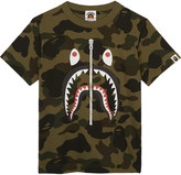A Bathing Ape Shark Camo cotton T-shirt 4-8 years