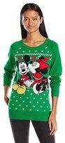Disney Women's Mickey Minnie Mistletoe Kiss Christmas Sweater