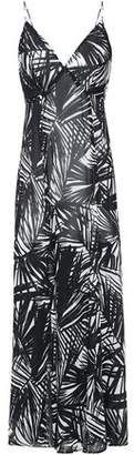 Bailey 44 Split-front Printed Georgette Maxi Dress