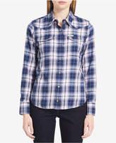 Calvin Klein Jeans Cotton Plaid Western Shirt