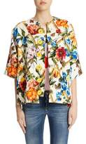 Dolce & Gabbana Crop Sleeve Wool & Silk Jacket