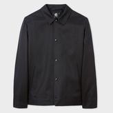 Paul Smith Men's Black Cotton And Linen-Blend Coach Jacket