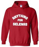 Blue Tees Anything for Selenas Fashion Selena People Clothes Best Friends Couples Gifts Unisex Hoodie Sweatshirt