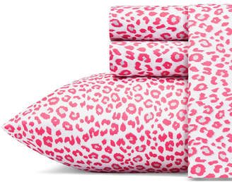 Betsey Johnson Betseys Leopard Sheet Set, Full Bedding