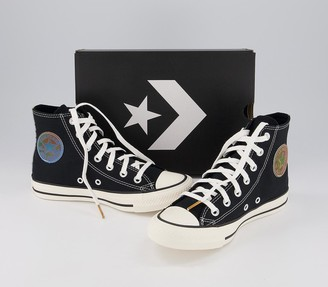 Converse All Star Hi Trainers Black White Lenticular Exclusive