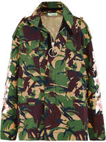 Off-White Printed Cotton-canvas Jacket - Army green