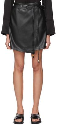 Nanushka Black Vegan Leather Sekoya Miniskirt