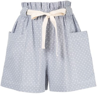 Karen Walker polka dot print shorts