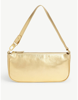 BY FAR Rachel metallic leather shoulder bag