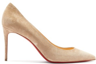Christian Louboutin Kate 85 Suede Pumps - Womens - Beige