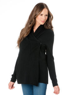 A Pea in the Pod Central Park West Long Sleeve Cascade Maternity Cardigan
