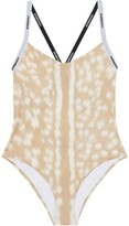 Burberry Deer-Print Logo Tape Swimsuit
