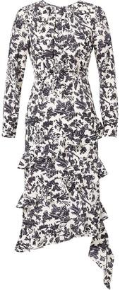 Jason Wu Asymmetric Ruffle Dress