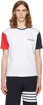 Thom Browne White Funmix Pocket T-Shirt