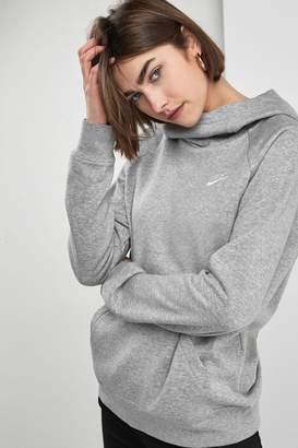 Nike Womens Essential Fleece Funnel Neck Hoody - Grey