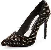 Alice + Olivia Women's Dina Studded Suede Pump