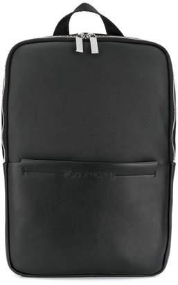Calvin Klein embossed logo backpack