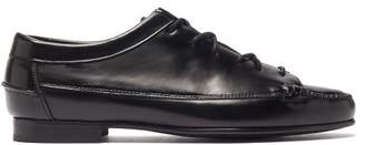 Hereu Priega Lace-up Leather Loafers - Womens - Black