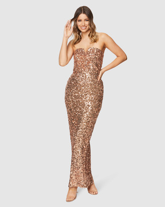 Pilgrim Women's Gold Maxi dresses - Gianina Gown - Size One Size, 6 at The Iconic