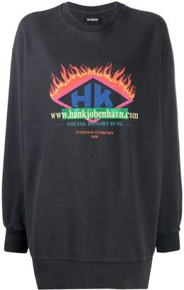 Han Kjobenhavn Embroidered Logo Sweatshirt