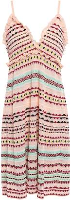 M Missoni Ruffle-trimmed Crochet-knit Dress