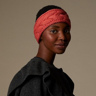 Love & Lore Love And Lore Sustainable Style Eco Cable Knit Headband Coral