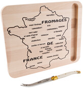 Jean Dubost Le Thiers Laguiole 2Pc Map Of France Cheese Set