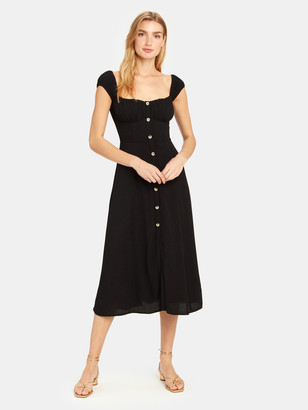 ASTR the Label Bonjour Cap Sleeve Midi Dress