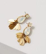 LOFT Crystal Leaf Chandelier Earrings
