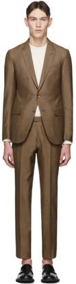 Ermenegildo Zegna Brown Silk Milano Suit