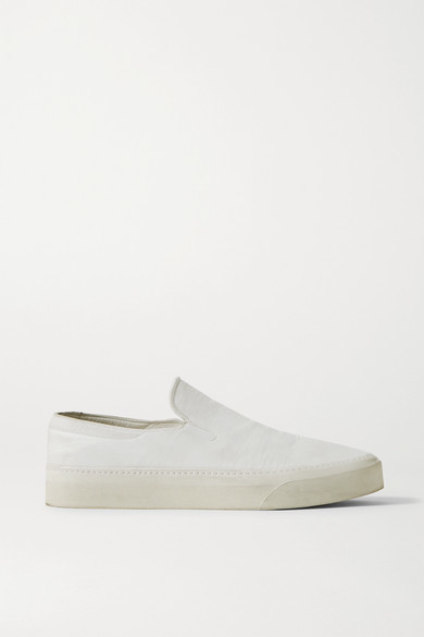Thumbnail for your product : The Row Marie H Canvas Slip-on Sneakers - Ivory