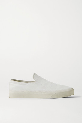 The Row Marie H Canvas Slip-on Sneakers - Ivory