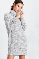 Silence & Noise Silence + Noise Malachi Shimmer Cowl-Neck Sweater Dress