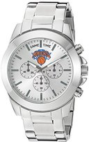 Game Time Women's 'Knock-Out' Quartz Stainless Steel Automatic Watch, Color:Silver-Toned (Model: NBA-TBY-NY)