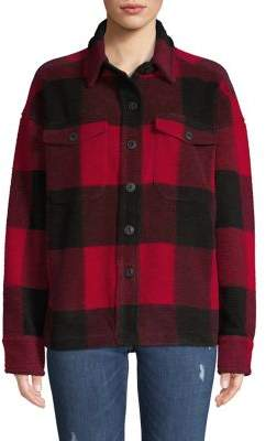 Lord & Taylor Flannel Plaid Button Jacket
