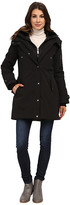 DKNY Hooded Faux Fur Collar Parka w/ Inner Bib 46115-Y5